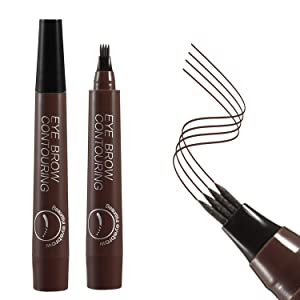 Apooliy Eyebrow Tattoo Pen Waterproof Microblading Eyebrow Pencil with a Micro-Fork Tip Applicator Creates Natural Looking Brows Effortlessly