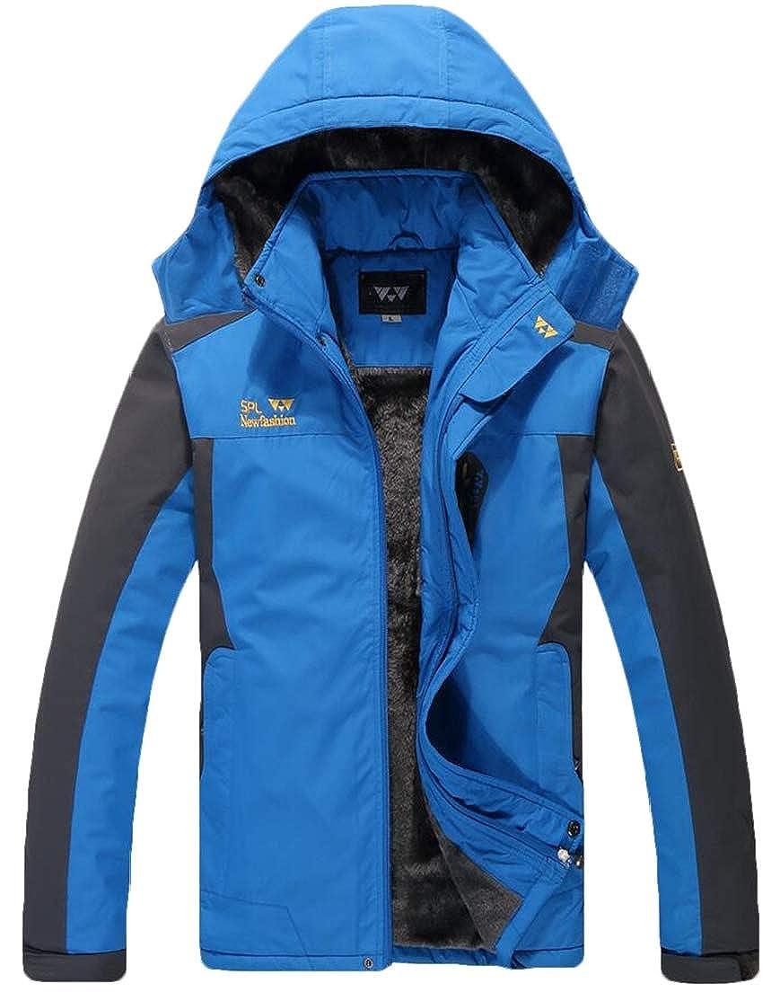 Zantt Men Linen Fleece Windproof Mountain Hooded Winter Waterproof Jacket