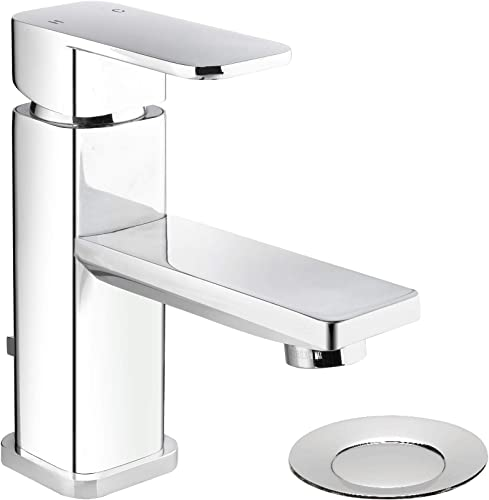 Plumb Pak MIR22CCP Single Handle Centerset Bathroom Sink Faucet, Polished Chrome