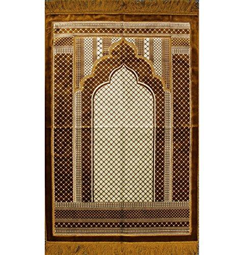 Prayer Rug Big: Wide Large Velvet Muslim Namaz