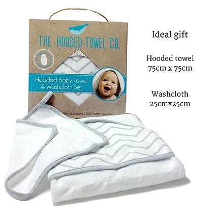 Conjunto de toalla con capucha y toallita para bebé Regalo ideal para la mamá y recién