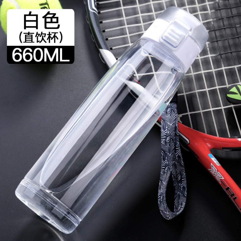 Youzhishui Botella Deportiva de plástico Botella de Agua Bebedor de Paja Botella de Bebida con Vaso de Cuerda Subiendo a mi Botella para Agua A Prueba de Fugas