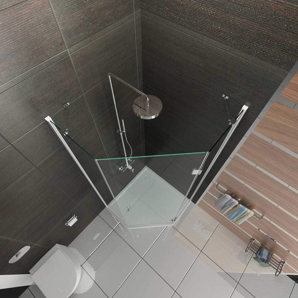 Ducha pentagonal Exclusiva con nanorrecubrimiento, 90 x 90 cm, 3 ...