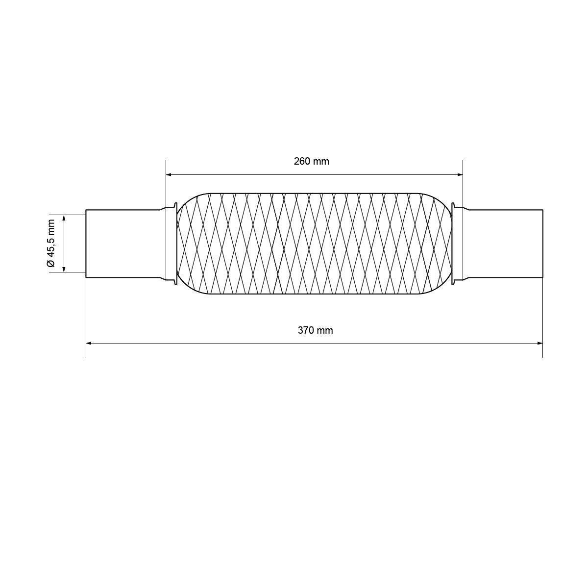 p/âte d/échappement 60 g ECD-Germany Tuyau Flex Universel en Acier Inoxydable Interlock r/éparation d/échappement 60 x 200 mm avec 2 Pinces Montage sans Soudure