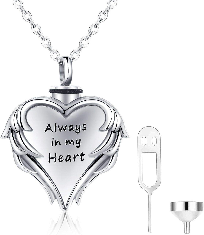 Memorial Urn Halskette Andenken Anhänger Asche Inhaber Liebhaber Paare