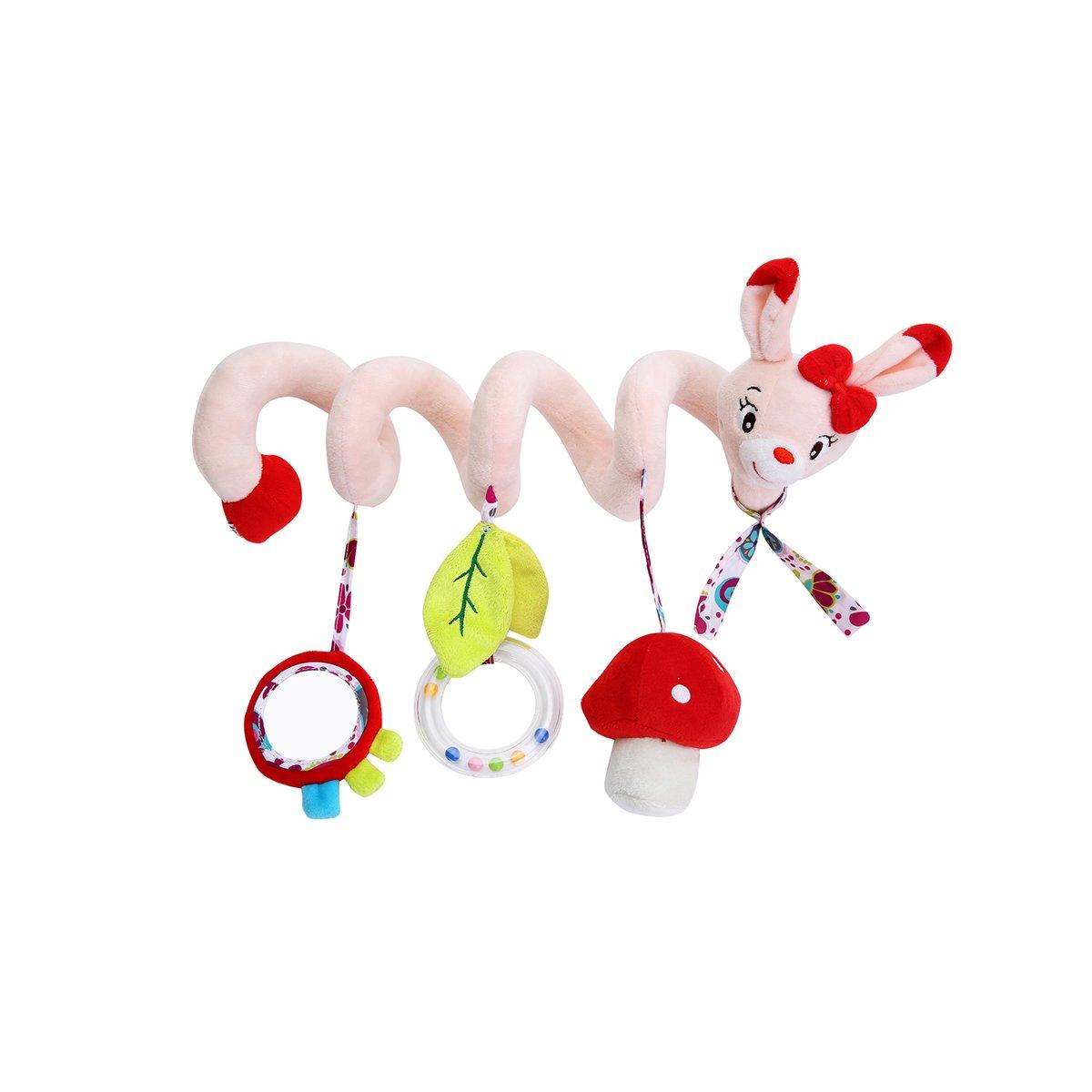 TOYMYTOY Recién nacido Baby Crib Toy Wrap Around Crib Rail Toy Cochecito de juguete Lindo Bebé Juguetes educativos (Gato)