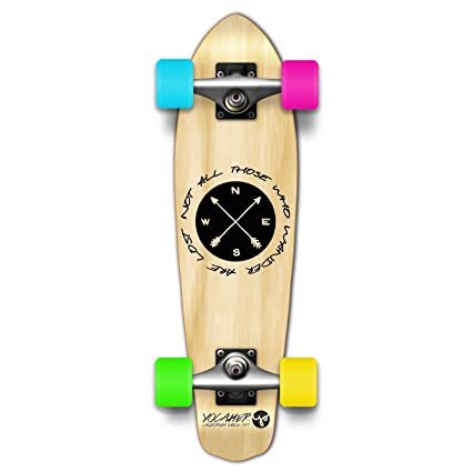 Yocaher Drop Through Longboard Complete In the Pines Natural