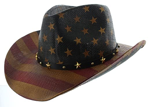 babfddd463b Milani Vintage Stars   Stripes American Flag Cowboy Hat at Amazon ...