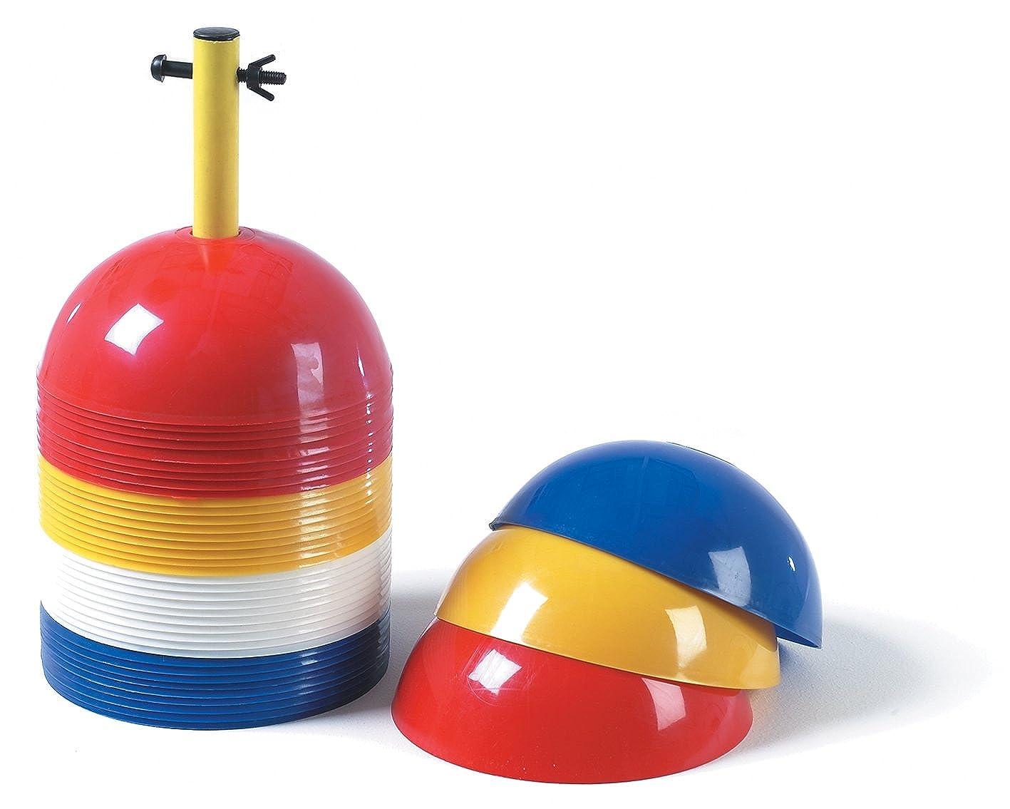 Precision Training sport marcatori 40PK Coni tondi tipo cinesini diametro: 20 cm Sports (Gelb/Rot/Weiß/Blau)