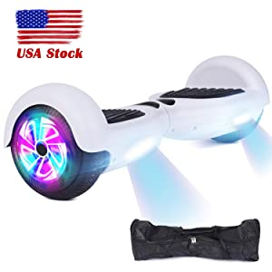 """YHR Hoverboard -Self Balancing Scooter 6.5"""" 2 Wheel Electric Scooter - UL Certified 2272 Bluetooth W/Speaker, LED Wheels and LED Lights"""