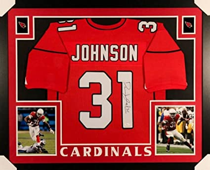 separation shoes c5e3a fd846 David Johnson Signed Cardinals 35x43 Custom Framed Jersey ...