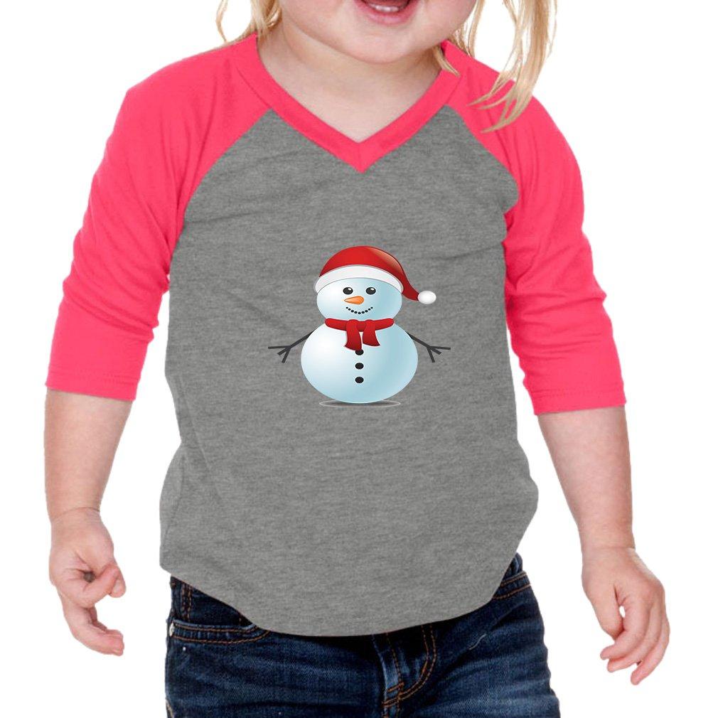 Cute Snowman Infants 60//40 Cotton//Polyester Jersey Shirt Gray Hot Pink 18 Months