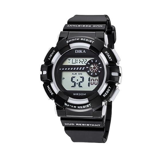 Los niños y niñas reloj digital/hora/reloj/Resistente al agua relojes digitales-C: Amazon.es: Relojes