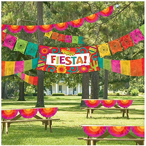 For Sale! Amscan Cinco De Mayo Fiesta Party Ultimate Indoor & Outdoor Decorating Kit (4 Piece), Mult...