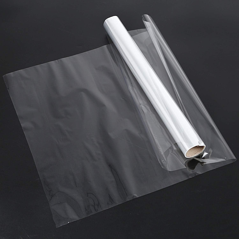 Naliovker 50cmx20m Cellophane Rouleau Film Plaine Clair /éPais Fleuriste Panier Emballage Cadeau Artisanat