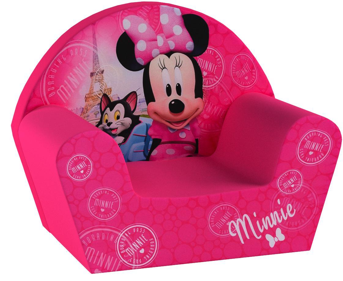Fun House 712173 Foam Club Chair 52 x 33 x 42 cm Minnie Mouse Design Polyester Pink