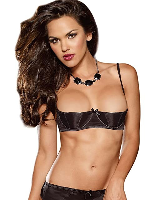 e4da1bfb1 Amazon.com  Dreamgirl 9385 Women s Elegant Persuasion Open Cup Shelf Bra   Clothing
