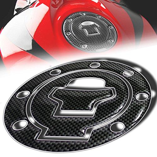 Fuel Pad Cap (3D Gas Tank Fuel Cap Cover Protector Pad for Suzuki GSXR-600/750/1000 (Carbon Fiber Look))
