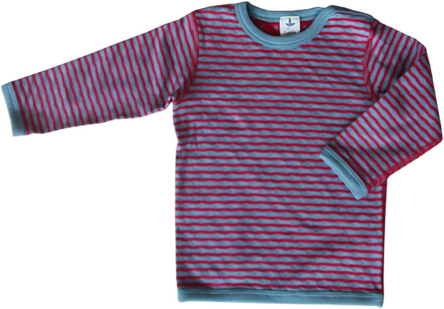 Leela Cotton - Camiseta Reversible de Manga Larga para niño (algodón ecológico): Amazon.es: Ropa y accesorios