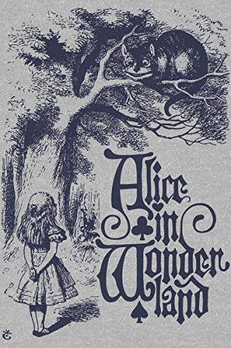 Womens Cheshire Cat Vintage Alice in Wonderland Illustration Dolman T-Shirt, X-Small, Heather Grey