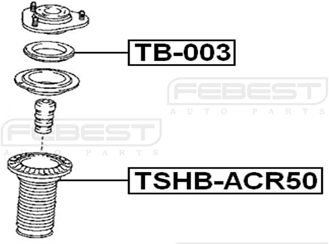 Febest Shock Absorber Boot 4815742010 For Toyota Front