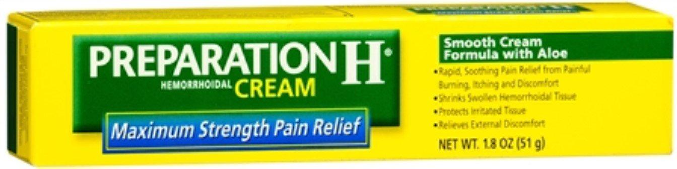 Preparation H Maximum Strength Hemorrhoidal Cream 1.8 oz (Pack of 9)