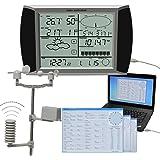 Forever Speed Estación Meteorológica Inalámbrica Pronóstico del Tiempo Termómetro Higrómetro Digital Pantalla táctil USB Software