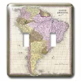 3dRose lsp_50918_2 Old South America Map Double Toggle Switch
