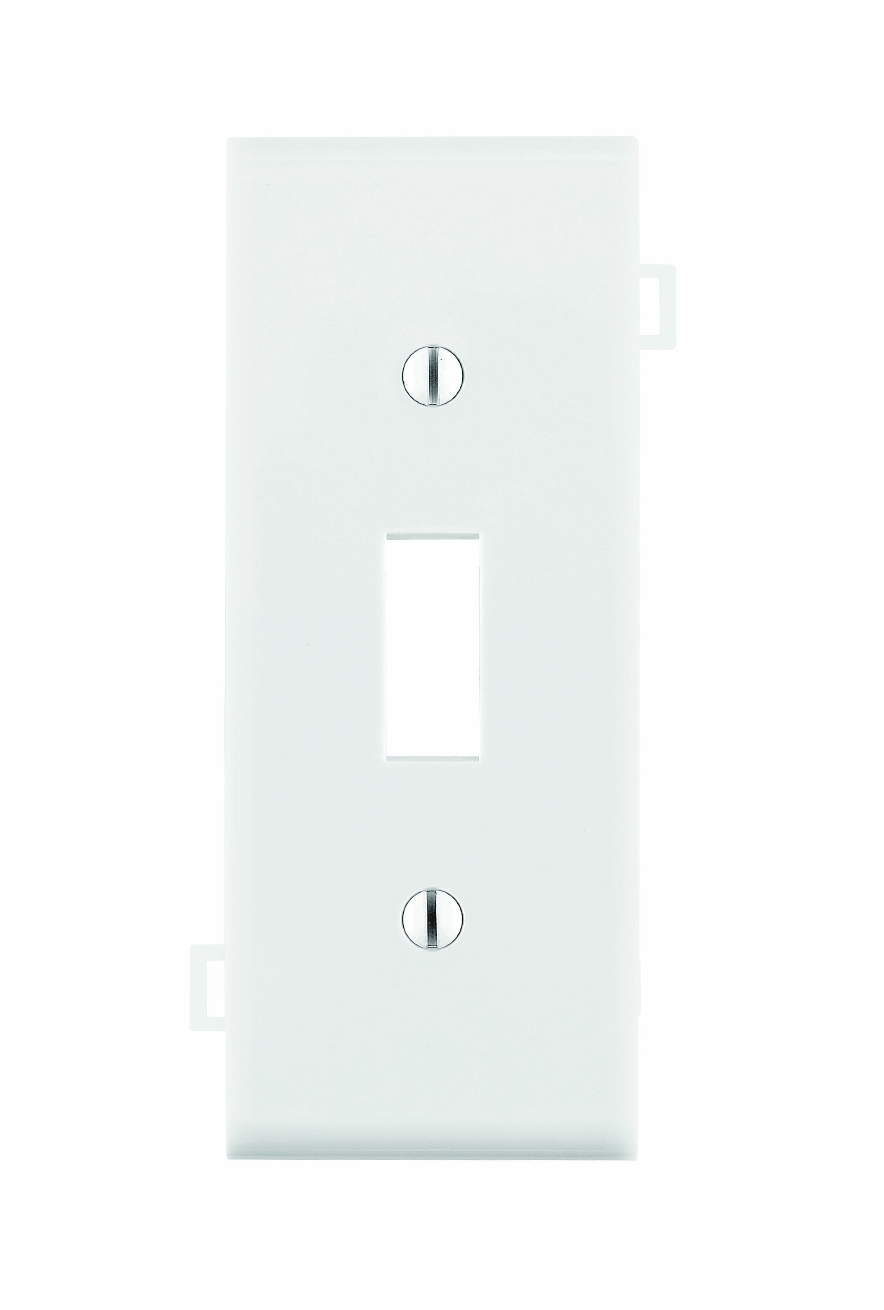 Leviton PSC1-W 1-Gang Toggle Device Switch Wallplate, Sectional, Thermoplastic Nylon, Device Mount, Center Panel, White