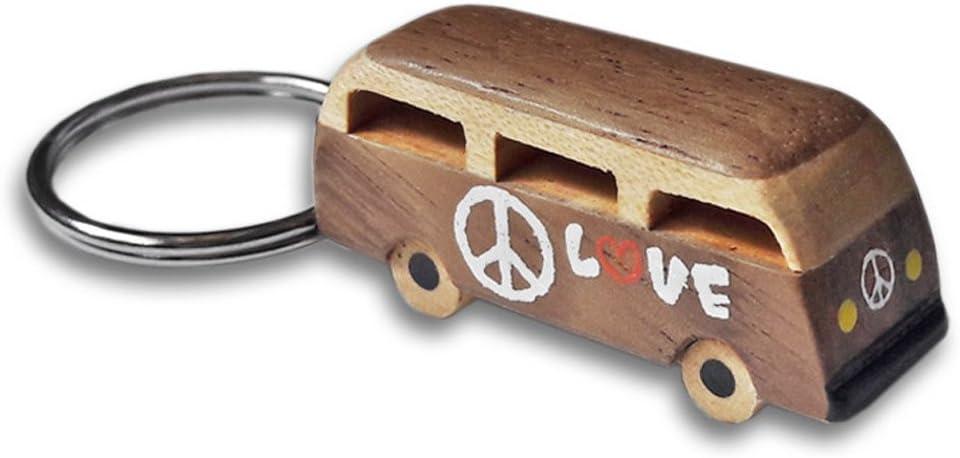 Ootb Vw Bus Holz Schlüsselanhänger Schlüsselanhänger Einzeln Verkauft Volkswagen Hippie Van Frieden Liebe Auto Camper Küche Haushalt