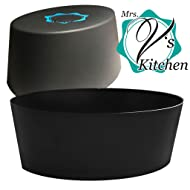 Slow Cooker Liner made with Heavy Duty BPA Free 100% Food Grade Silicone to stand up over bags - Perfect Crock Pot Liners - Large Oval
