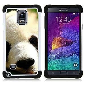 - panda Japanese cute animal furry muzzle/ H??brido 3in1 Deluxe Impreso duro Soft Alto Impacto caja de la armadura Defender - SHIMIN CAO - For Samsung Galaxy Note 4 SM-N910 N910