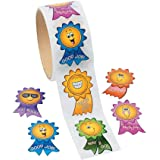 Fun Express Motivational Smiley Face Roll Stickers - 1 Roll