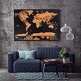 Mapa Mundi De Raspar Grande 82x59 Scratch Map Deluxe Raspadinha