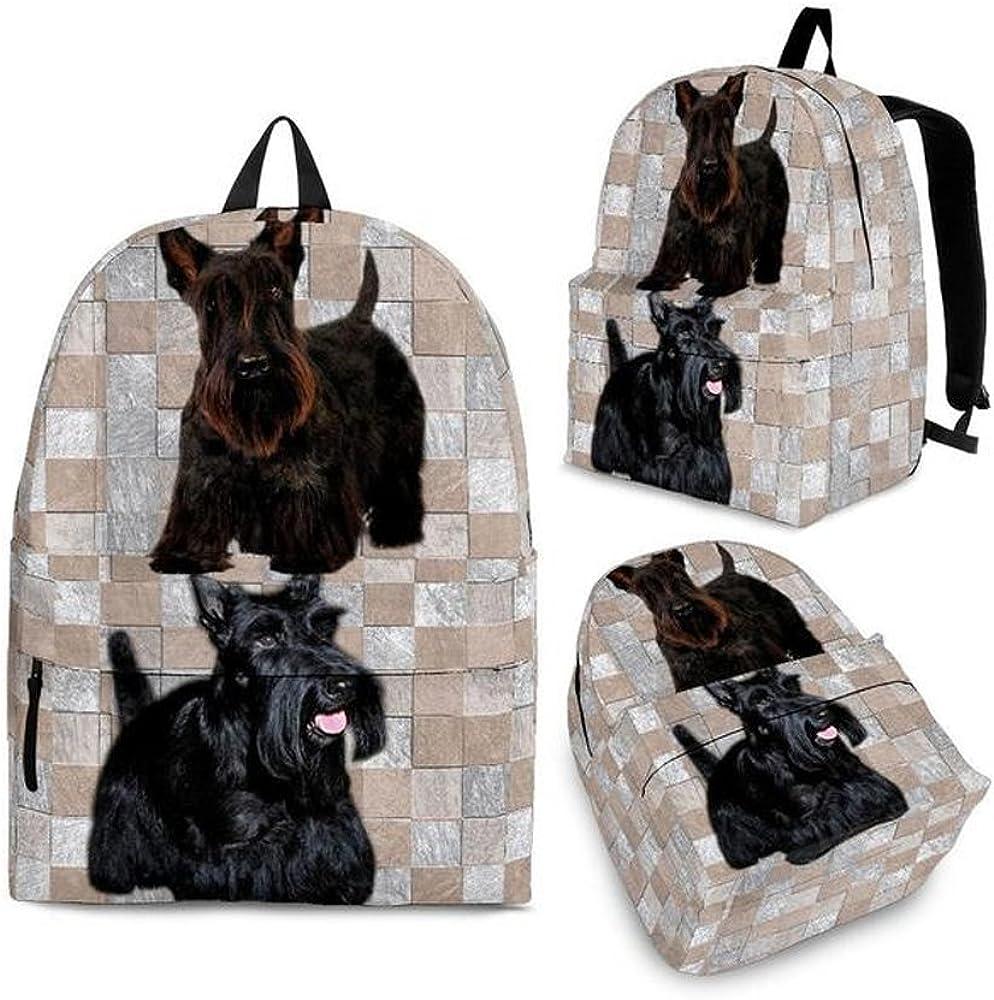 shoetup Cute Scottish Terrier Print Backpack Set For Kids and Girls