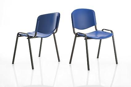 Sedie Ufficio Blu : Karisma iso point a sedia in plastica casa ufficio attesa