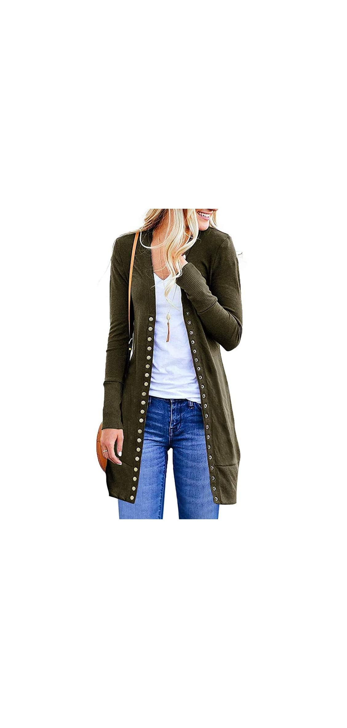 Cardigan Sweaters For Women Long Sleeve Soft Basic Down