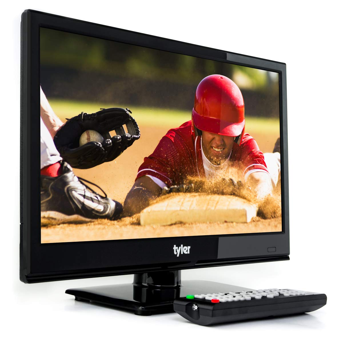 Tyler 15.6-Inch Digital LED Widescreen Television - Full Ultra HD 1080p Monitor Flat Screen TV with Stand - HDMI, USB, VGA and Coaxial Port Input - Wall Mountable - Mac PC - Stereo Speakers - AC/DC