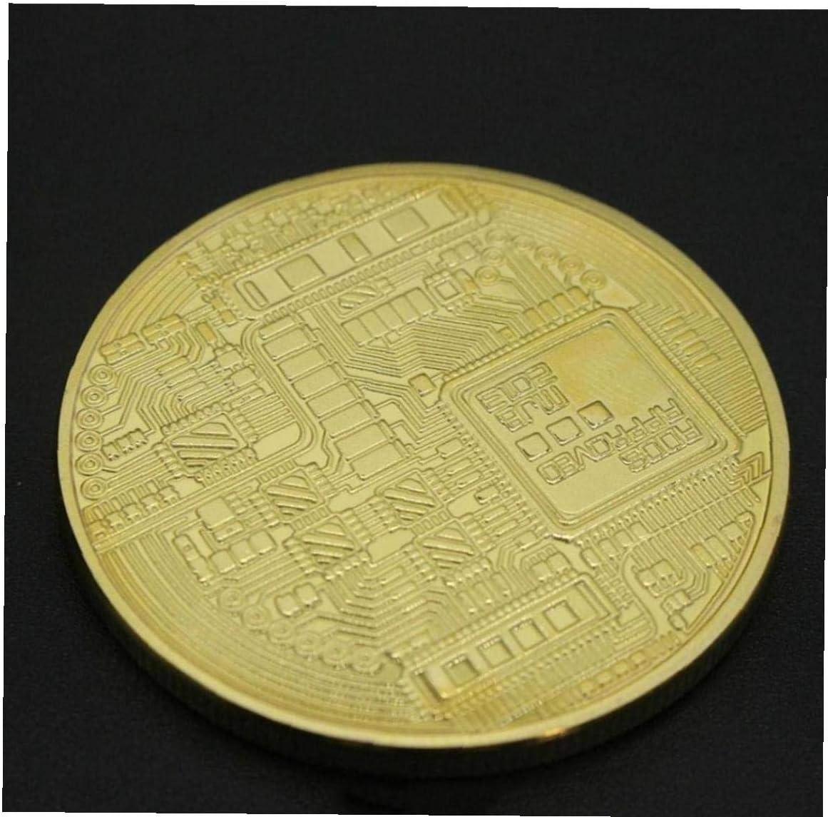 PiniceCore 1pc Goldene Farbe Bitcoin M/ünze Sammler Geschenk Casascius Bit-m/ünze BTC M/ünze Kunstsammlung Physische Gedenkm/ünzen