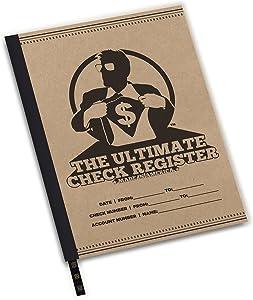 8-1/2x11 Large Checkbook Register, Check Register for Checkbooks