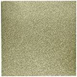 American Crafts Glitter Cardstock, 12 by 12-Inch, Gold (15 sheets per pack)