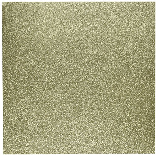 American Crafts Glitter Cardstock, 12 by 12-Inch, Gold (15 sheets per pack) by American Crafts