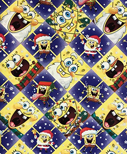 Spongebob Squarepants Christmas Diamond Wrapping Paper Gift...