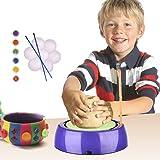 電動ろくろセット 陶芸 DIY 陶器セット 陶器作り 子供用 おもちゃ 知育 顔料付き
