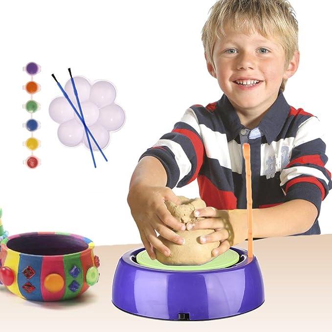 Pueri Kinder Töpferscheibe Töpferset Töpferstudio für Kinder Kleinkinder Anfänger Lernen Skulptur