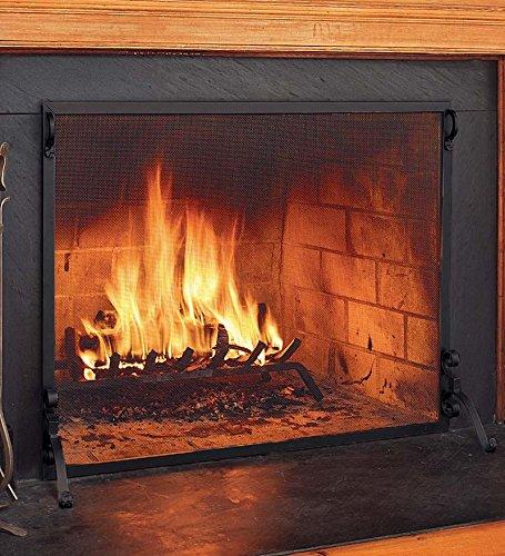 33' Fireplace (Solid Steel Flat Guard Fire Screen, 44