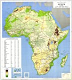 Gifts Delight LAMINATED 24x26 Poster: High detailed physical and political map of Africa. Africa high physical