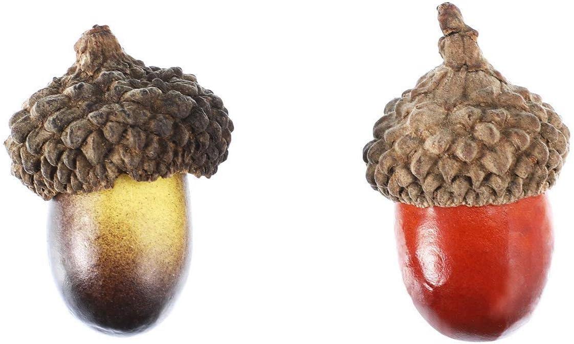 SODIAL D/écor De Glands De 100 Pi/èces Accessoire De Faux Fruits Glands Artisanat Artificiel D/écoration De Glands pour DIY F/ête De LArtisanat