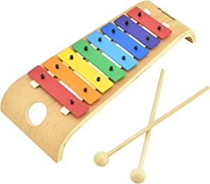 MUSICUBE Xylophone 3rd Gen Colorful Keys Kids Xylophone, Professional Tuning, Advanced Bent Wood Xylophone for Adult and Kids with Easy Pack-Up Stick Design