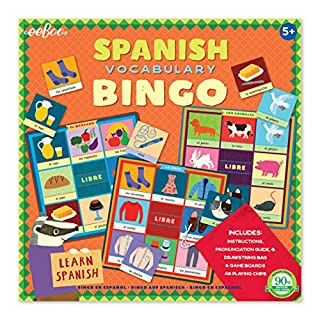 eeBoo Spanish Bingo Game for Kids